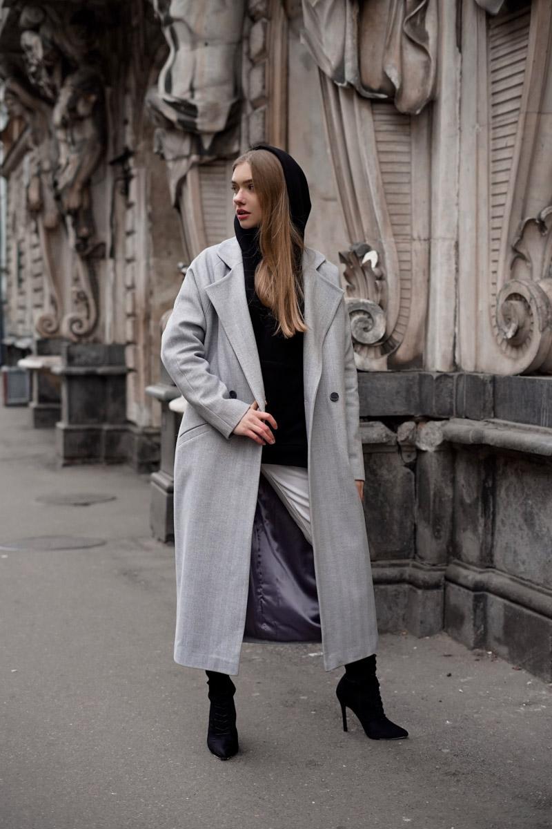5ae44144a940 Пальто женские ёлочкой - купить пальто в ёлочку женское в СПб в интернет  магазине Dream White