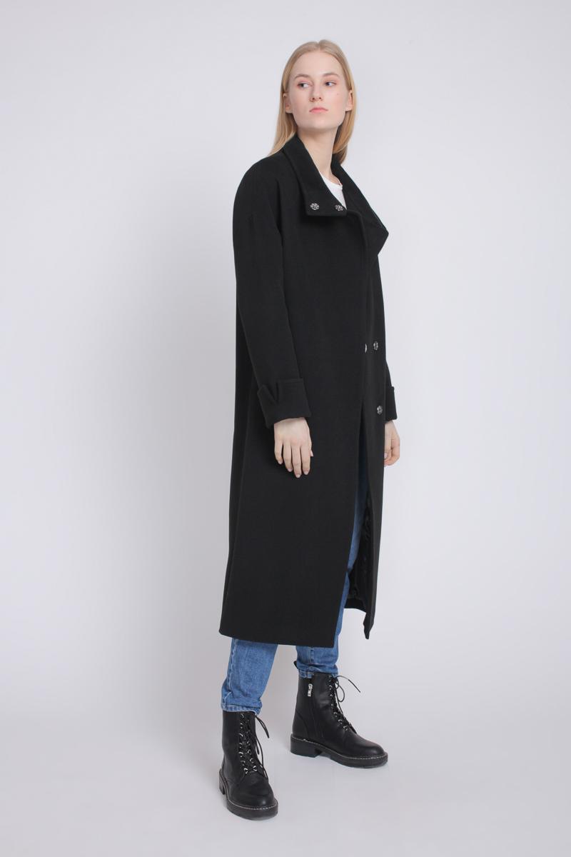b4ebde0d414 Черные женские пальто в пол - купить черные женские пальто в пол в СПб в  интернет магазине Dream White