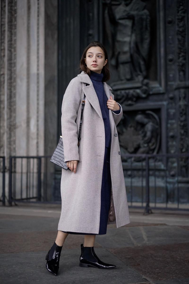 b34ae37bd5c Длинные женские пальто оверсайз - купить длинные женские пальто оверсайз в  СПб в интернет магазине Dream White