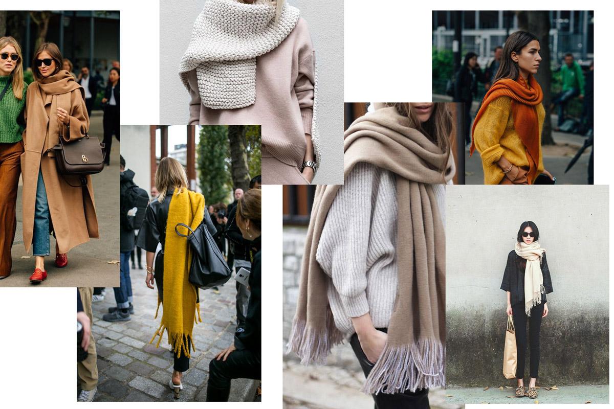 шарф к пальто